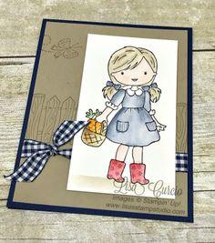 Garden Girl, Stampin' Up!, card, paper, craft, scrapbook, rubber stamp, hobby, how to, DIY, handmade, Live with Lisa, Lisa's Stamp Studio, Lisa Curcio, www.lisasstampstudio.com