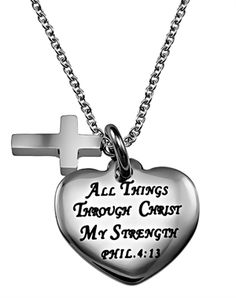 The Christ My Strength Sweetheart necklace