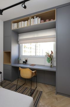 Small Room Design, Home Room Design, Home Office Design, Home Office Decor, Modern House Design, Office Nook, Workplace Design, Office Chic, Home Interior