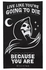 KILLSTAR CERTAIN DEATH BACK PATCH - Live like you are going to die! This reaper patch is large and perfect to sew on the back of your favorite denim jacket. The black felt has been embroidered with a reaper and words to live by Schrift Design, Skeleton Art, Funny Skeleton, Back Patch, Grim Reaper, Skull Art, Dark Art, Cool Art, Inspiration Quotes