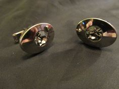 Sparkling Rhinestone Cuff Links  Perfect for a Groom by DresdenCreations, $18.00
