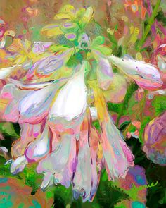 Fun Cheery Hosta flowers by Jeanie Campbell