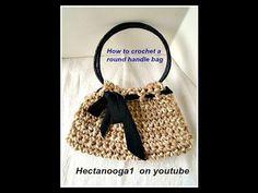 VIDEO TUTORIAL, how to crochet an easy bag, purse, satchel ON YOUTUBE: https://www.youtube.com/watch?v=WmzRFVhJBAU
