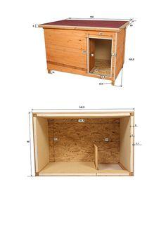 XL Hundehütte isoliert mit Windfang 150 x 95 x 103 cm: Amazon.de: Haustier