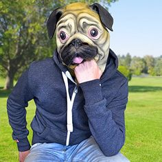 Accoutrements Pug Mask - http://weloveourpugs.net/?product=accoutrements-pug-mask
