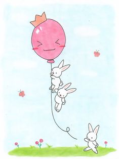 cute bunnies playing by VioletLunchell.deviantart.com on @deviantART