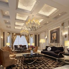 From its ceiling to the floor, this interior design is pretty luxurious!