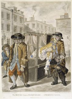 The return from a masquerade - a morning scene: 1784, Robert Dighton. MoL 002322