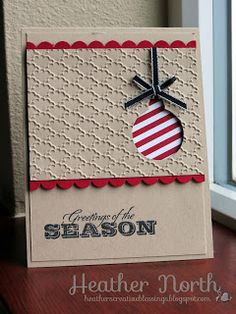 Simple and clever Christmas Card layout - this one using the Season of Style DSPS