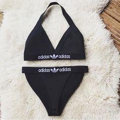 swimwear adidas black