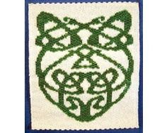 Fancy Celtic Knot Tapestry - I designed this bead pattern for St Patrick's Day but it could be for any season of the year.