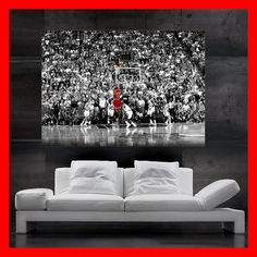 Michael Jordan last shot  Poster print art 23 HH10011 S1 on Etsy, $26.75