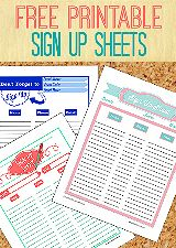 free printable sign up sheets relief society pinterest sign up