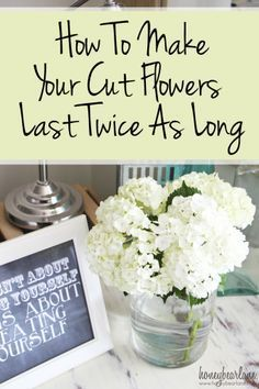 Make your flowers last twice as long!