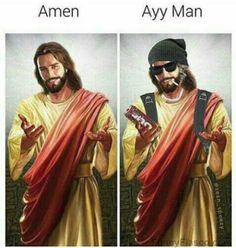 Roses are red Violets are blue Jesus got more swag than you Funny funny jesus meme