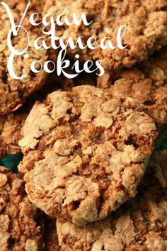 Vegan Oatmeal Cookies. Brown sugar sweetened and cinnamon infused deliciousness