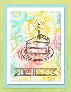 Sketched Birthday digital card - from The Soggy Stamper