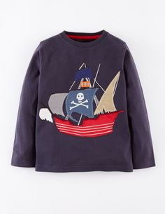 for my pirate obsessed boy Vehicle T-shirt 21735 Graphic T-Shirts at Boden