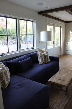 Window trim and double doors.