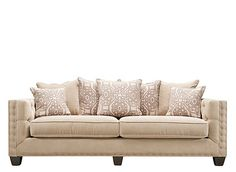 Give your living room the perfect combination of comfort and contemporary style with this Cindy Crawford Calista microfiber sofa. New Living Room, Living Room Decor, Small Living, Drawing Room Interior Design, Front Room Design, Wall Design, Microfiber Sofa, Quality Sofas, Lounge Decor