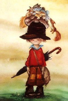 s ------> Licena Hill: Las Mejores Galerías de Anime, DigitalArts y Má Art And Illustration, Holly Hobbie, Gif Animé, Vintage Christmas Cards, Cute Dolls, Vintage Postcards, Sarah Kay, Doodle Art, Cute Art