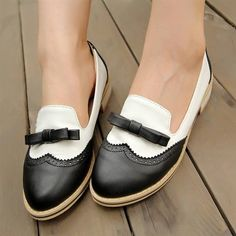Wish | Plus size 32-43 High quality Fashion Women Flats Heels 4Colors Patchwork Bowtie Cut-Outs Rome Style Women Casual Shoes RL989