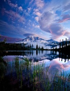 ~~Slow Dancing ~ clouds hovering over Mt Rainier, Washington by Paul Christian Bowman~~
