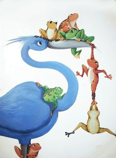 blue-bird-with-frogs-2
