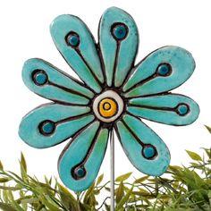 gvega - Ceramic flower garden art - abstract, €19.00 (http://www.gvega.com/tile-shop/plant-stakes/flowers/ceramic-flower-garden-art-abstract/)