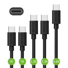 "5 Pack Type C USB  Fast Sync &Charging Cable for Nexus 5X Macbook 12"" LG Sony #YCCTEAM"