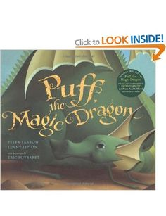 Puff, the Magic Dragon by Peter Yarrow, Lenny Lipton. The CD Includes the Title Track and Several Other Songs. The Only Picture Book Adaptation of the Song. Includes a Cloth Case and Embossed Jacket. Publisher: Music Sales America, 24 Pages. Puff The Magic Dragon, Peter Yarrow, Peter Paul And Mary, Up Book, Book Nerd, Reading Levels, Childrens Books, Teen Books, Baby Books