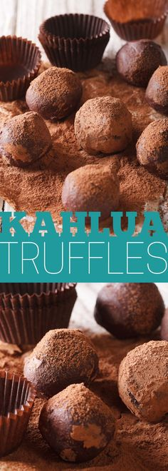 Kahlua Truffles are the showstopper homemade treat for the holidays. A great addition to a dessert table!
