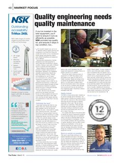 Quality engineering needs quality maintenance, The Probe, March 2015 Investing, Conditioner, Engineering, March, Articles, Good Things, Marketing, Mechanical Engineering, Technology