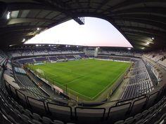 Interior Stade Constant Vanden Stock, Bruselas, Bélgica. Capacidad 28 063 espectadores, Equipo local RSC Anderlecht.