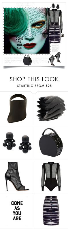 """Come As You Are"" by shoecraycray ❤ liked on Polyvore featuring Lynn Ban, Monies, Bertoni, Gianvito Rossi, Balmain and Native State"