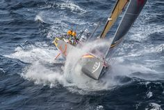 June 09, 2015. Abu Dhabi Ocean Racing passing by Costa da Morte - Coast of Death - in Spanish waters during Leg 8 to Lorient Ainhoa Sanchez / Volvo Ocean Race