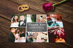 Wedding Thank You Card Template PSD @creativework247