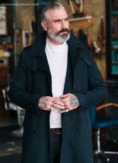 Beard Styles For Older Men, Hair And Beard Styles, Gandalf, Daniel Sheehan, Leather Suspenders, Rugged Men, Sexy Beard, Attractive Guys, Men's Grooming