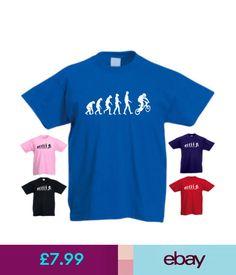 T-Shirts Ape Human Bmx Evolution Funny Kids T-Shirt #ebay #Fashion
