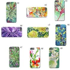 Flower phone case I phone 6 case with design Floral I phone 7