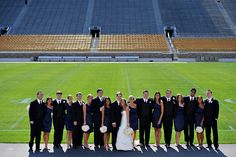 This couple was passionate about their alma mater! photos by Browne Photography | junebugweddings.com