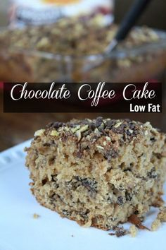 Chocolate Coffee Cake Recipe - Lower Fat But All The Deliciousness. Chocolate Coffee Cake. So that means we get to have chocolate for breakfast from Having Fun Saving.