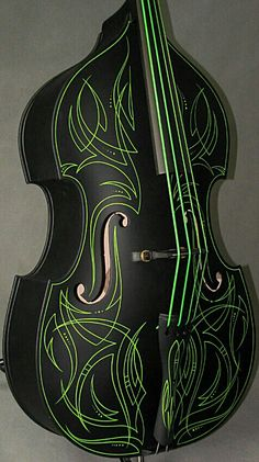 Pinstripe  Rockabilly  base. Guitar