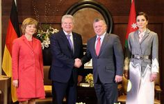 Dec. 7, 2015, King Abdullah II and َQueen Rania receive the German President, Mr. Joachim Gauck & Ms. Daniela Schadt