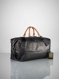Quilted Leather Duffle Bag - Bags & Business   Men - RalphLauren.com