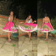 African fashion, short dress from AMAI Chipo's Boutique