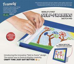 Self-Framing Sketch Pad by Framely. Instantly Frame Children's Artwork
