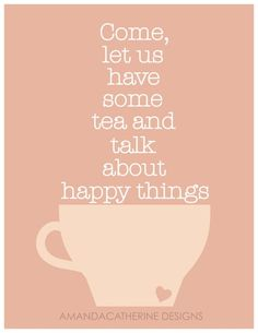 3 things that I truly believe can solve any problem: a hug, a cupcake, and a cup of tea.