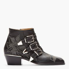 Fall Preview Studs: Chloe Black Studded Suzanna Boots