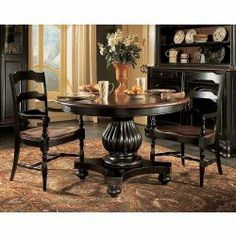 Hooker Indigo Creek Pedestal Dining Table · Round Dining Room TablesBlack  ...